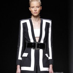 White bandeau Balmain x H&M